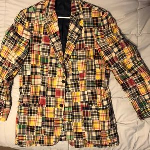 JCrew Madras plaid blazer Mens M
